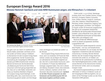 European Energy Award 2016